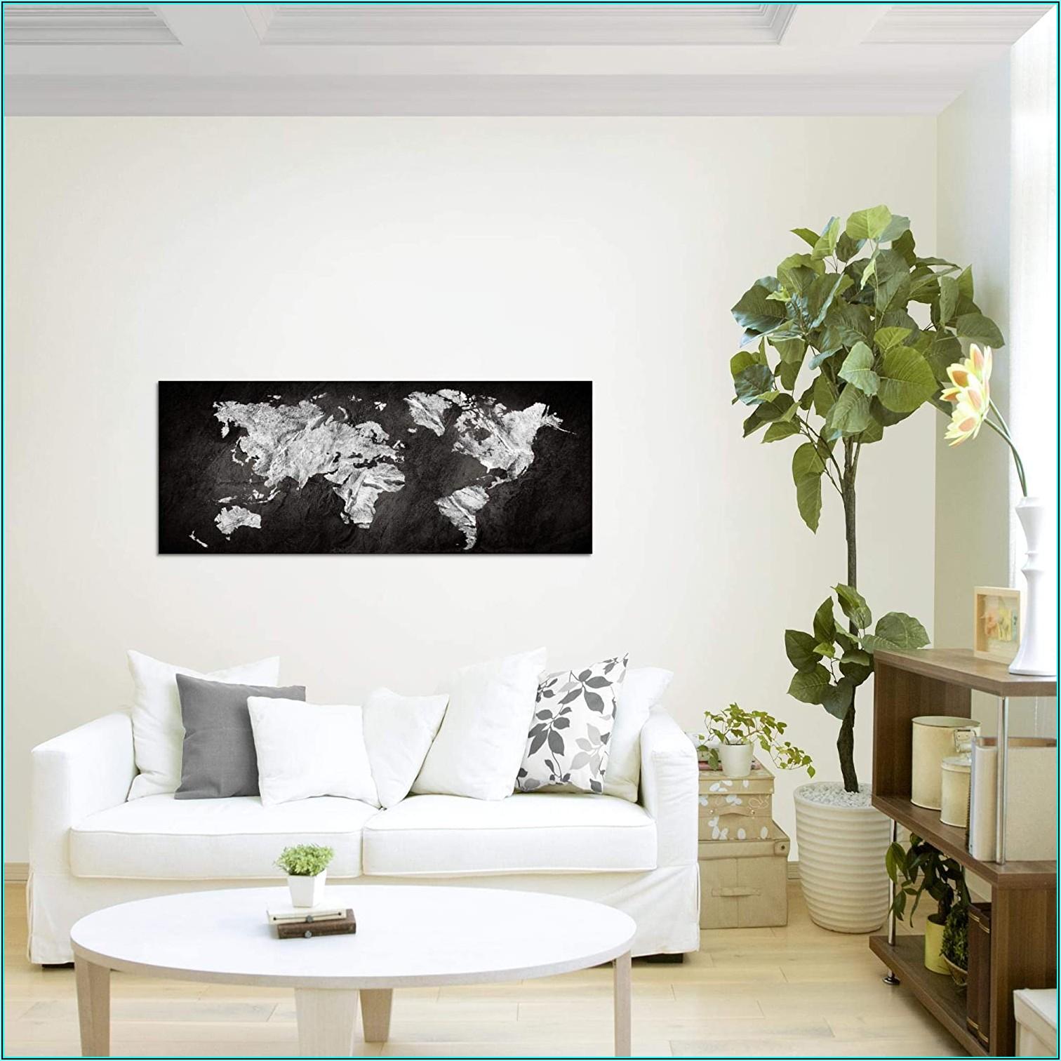 Weltkarte Bild Wohnzimmer