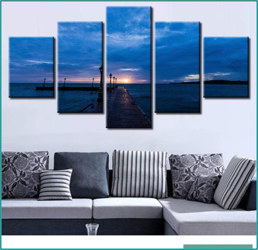 Wohnzimmer Bilder 5 Teilig