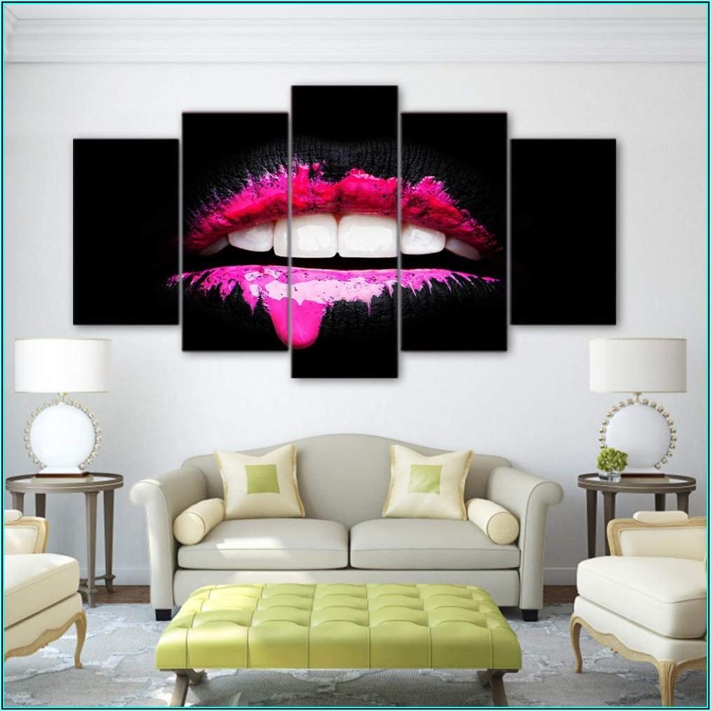 Wohnzimmer Bilder Pink