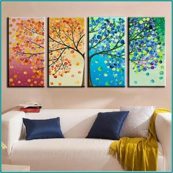 Wohnzimmer Wand Mit Fotos Gestalten