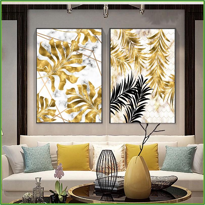 Bild Wohnzimmer Gold