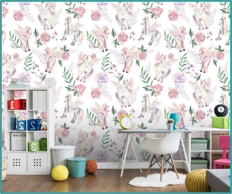 Blumen Tapete Kinderzimmer