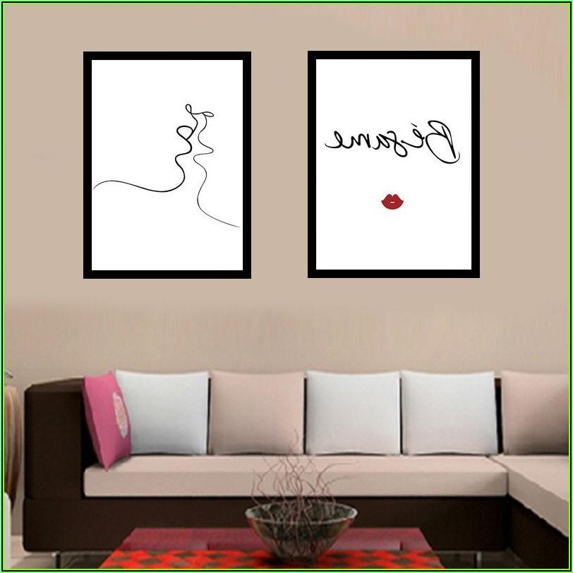 Gerahmte Bilder Für Wohnzimmer Schwarz Weiß