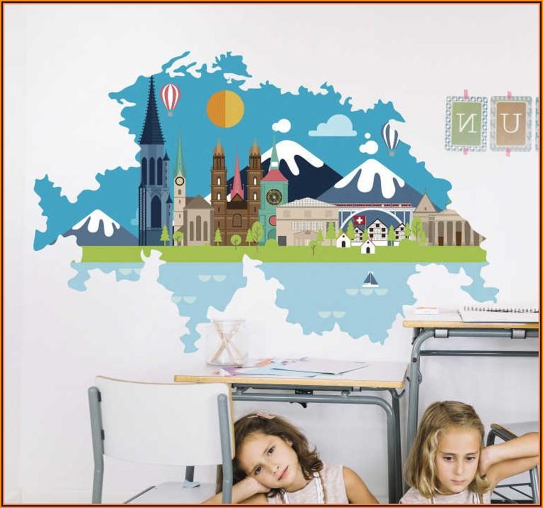 Wandsticker Kinderzimmer Schweiz