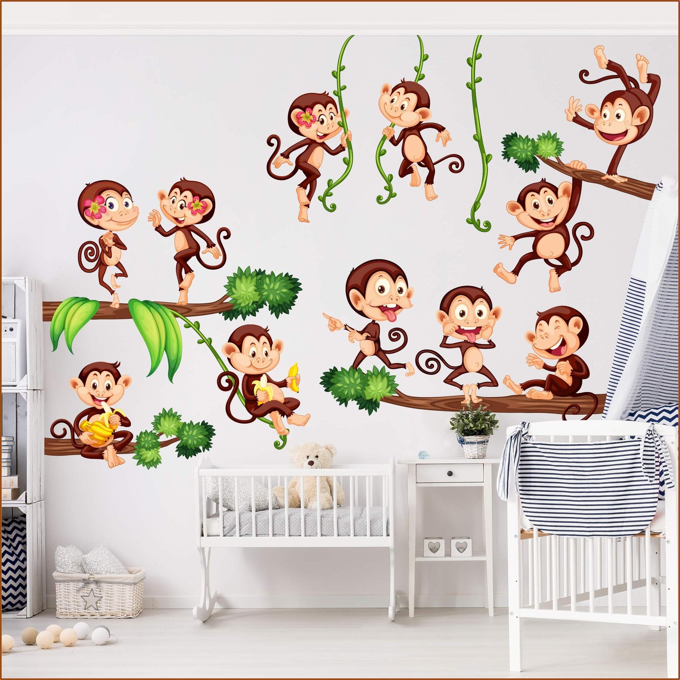 Wandtattoo Kinderzimmer Affen