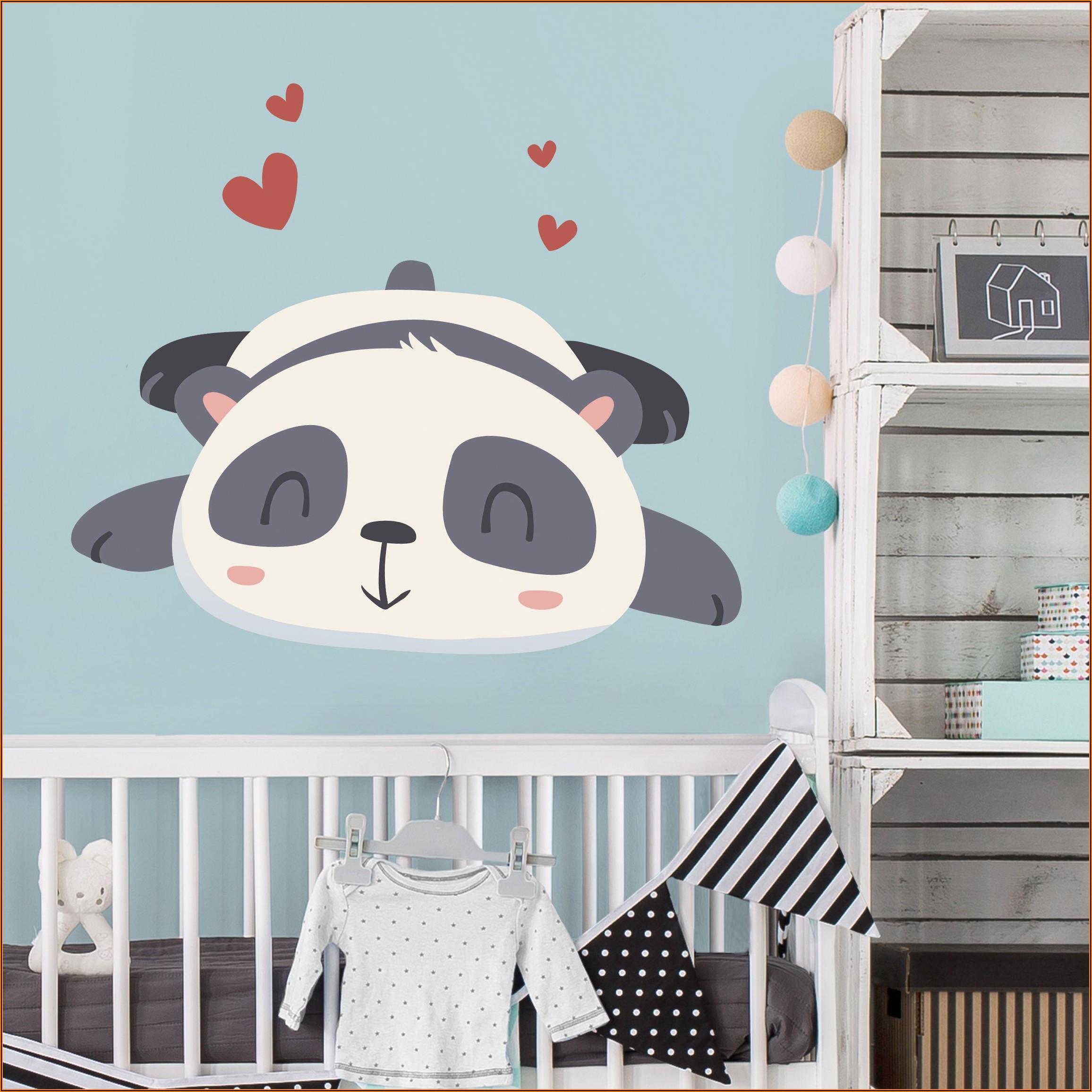 Wandtattoo Kinderzimmer Panda