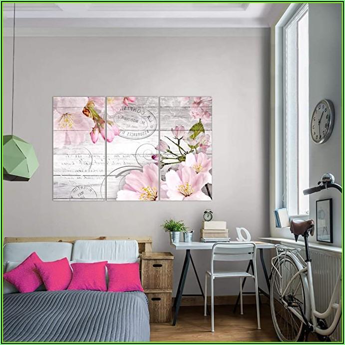 Wohnzimmer Bild Rosa Grau