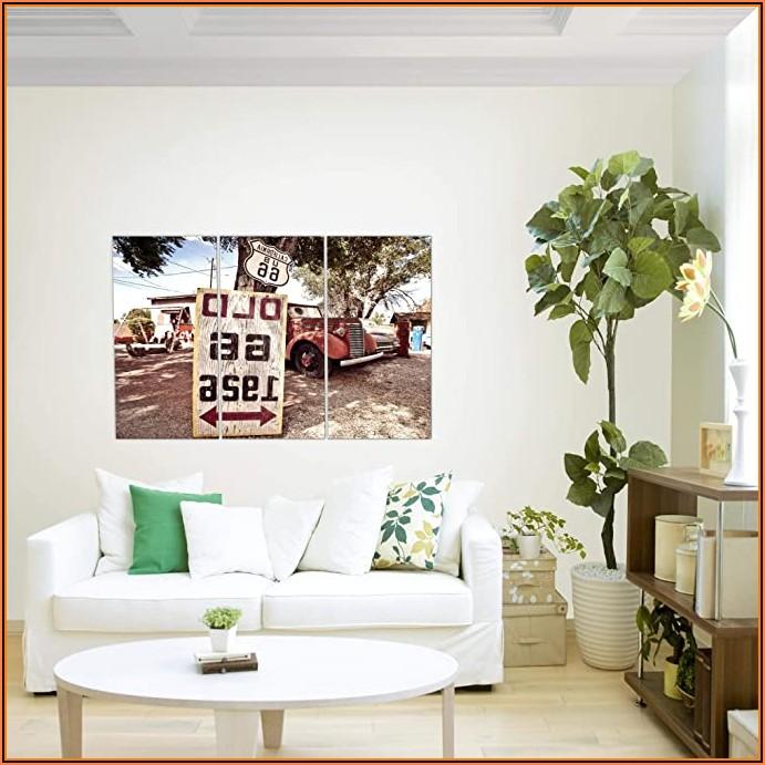 Wohnzimmer Bild Rot