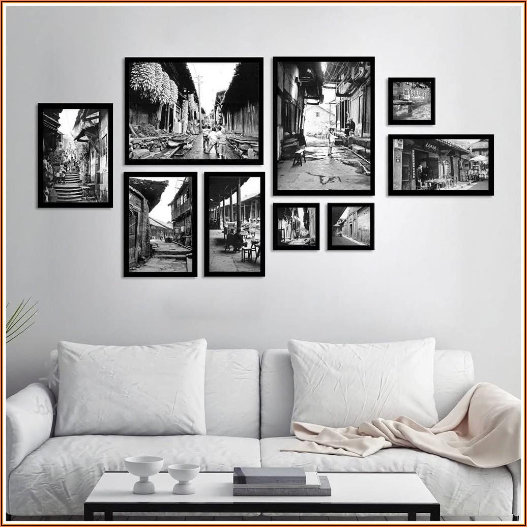 Wohnzimmer Bilder Schwarz Weiß
