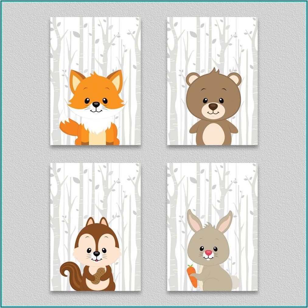 Baby Tiere Bilder Kinderzimmer