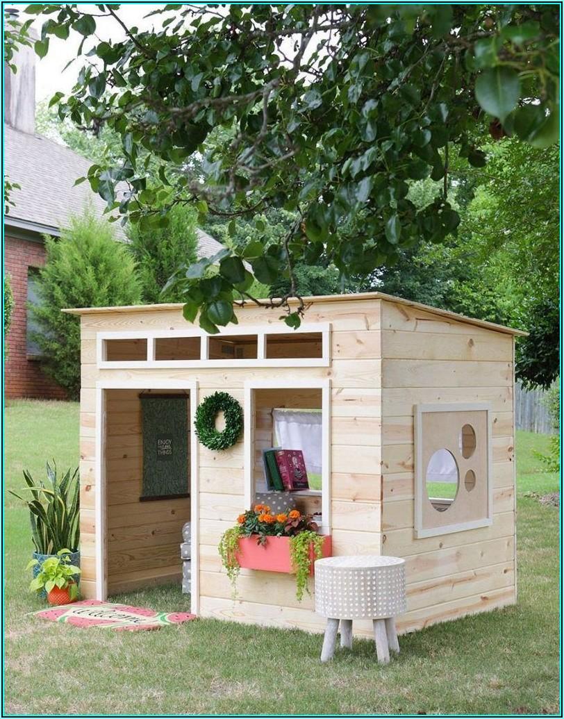 Holz Spielhaus Für Kinder Selber Bauen