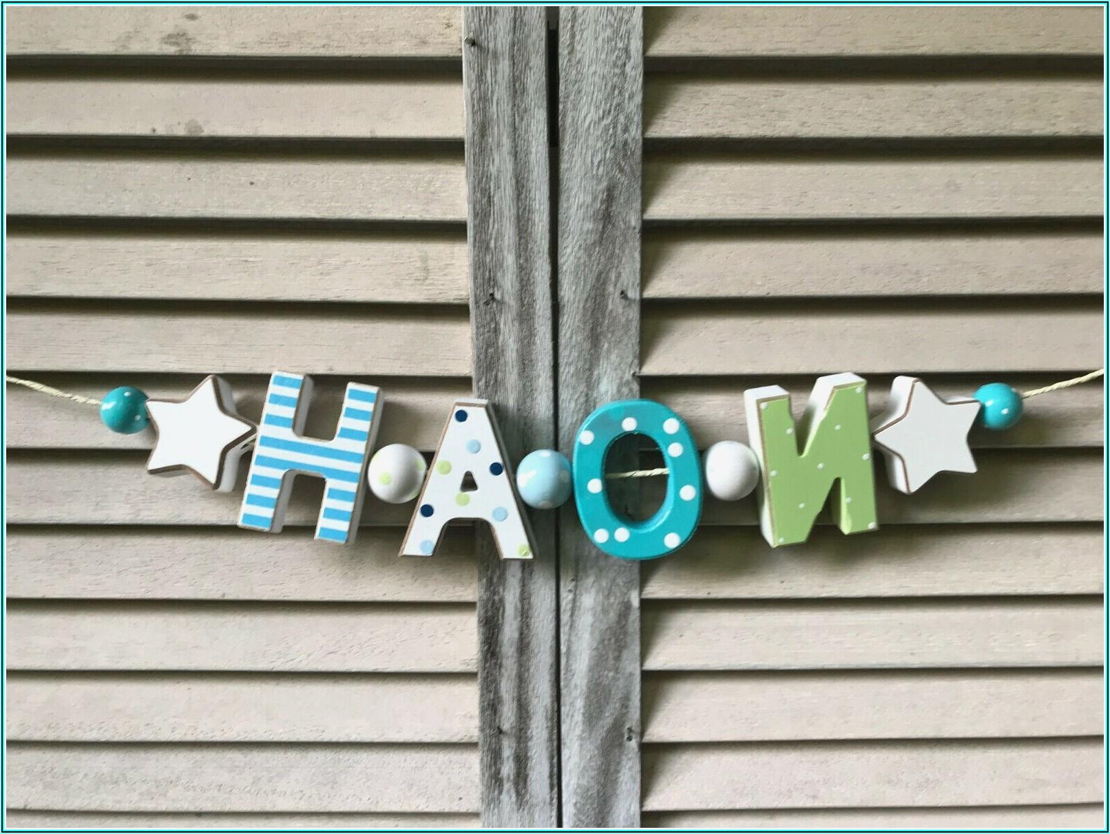 Holzbuchstaben Kinderzimmer Selbst Gestalten