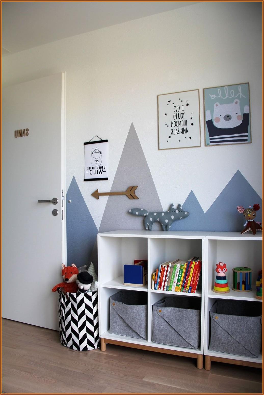 Kinderzimmer Grau Blau Weiß
