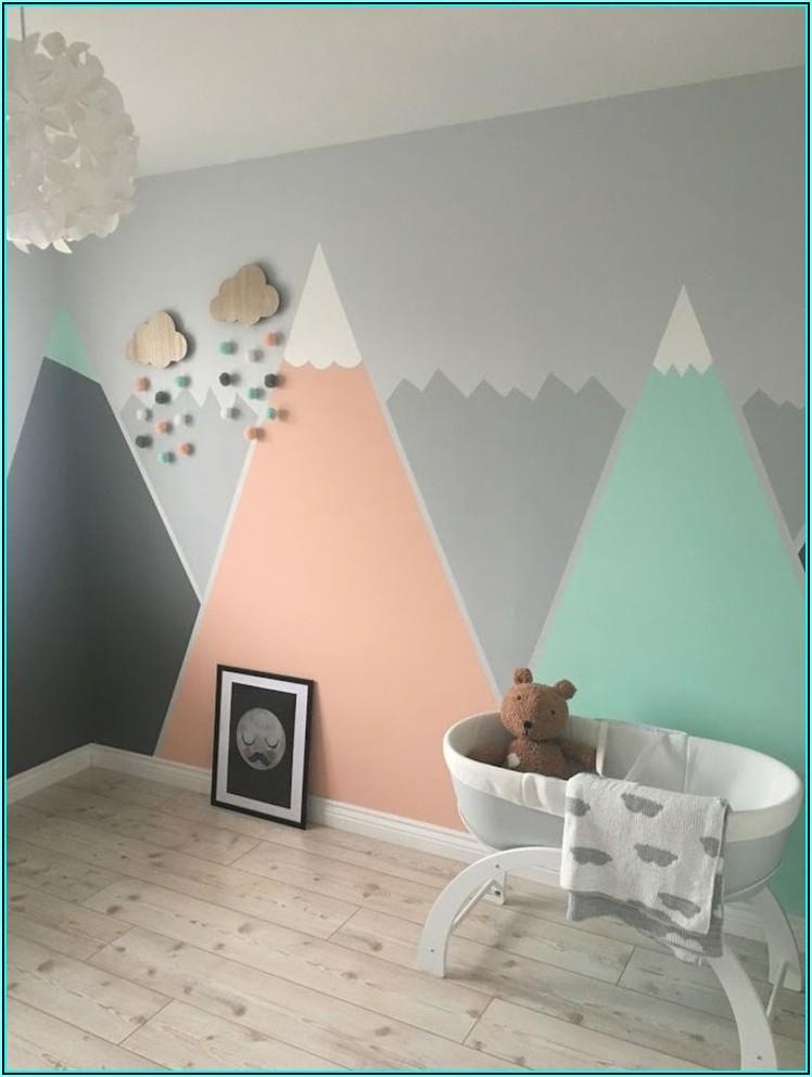 Wand Streichen Ideen Kinderzimmer Mädchen