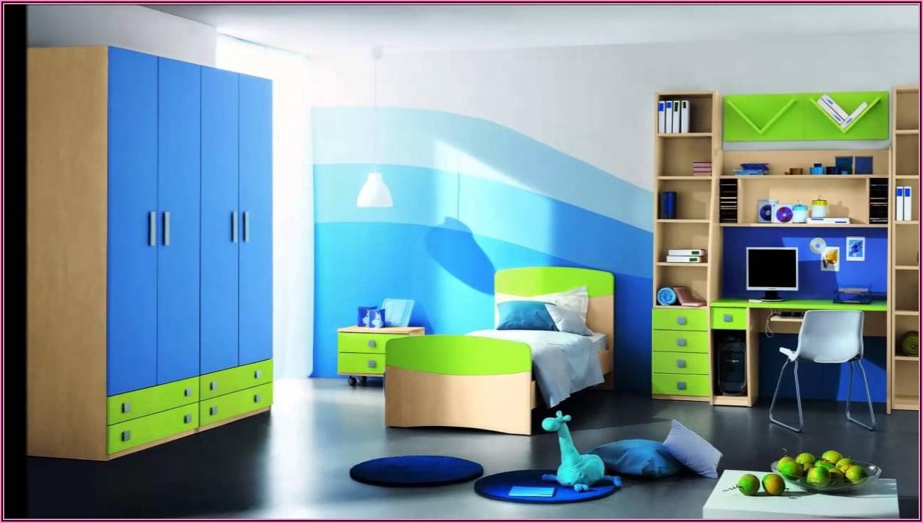 Kinderzimmer Junge Blau Grün