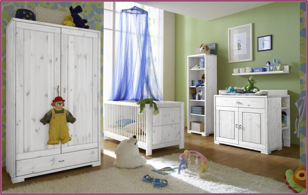 Kinderzimmer Kiefer Massiv Weiß