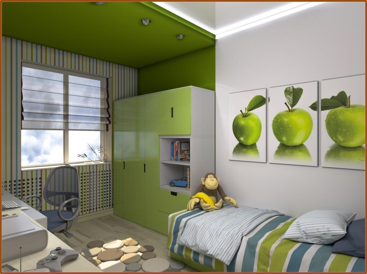 Kinderzimmer Streichen Grün Und Blau