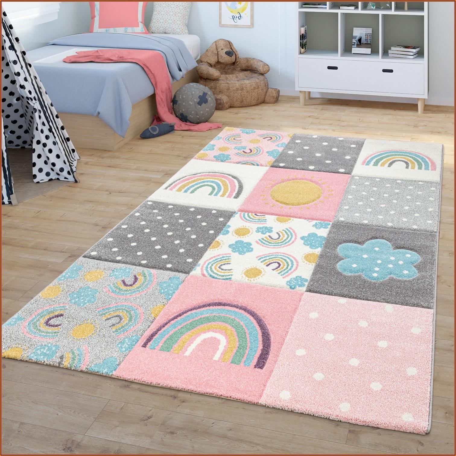 Kinderzimmer Teppich Grau