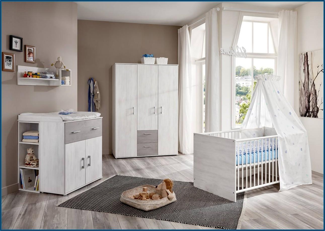 Babyzimmer Komplett Set Grau Weiß