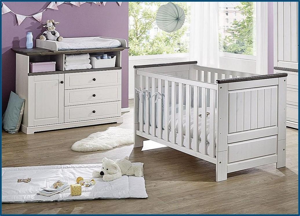Babyzimmer Set Weiß Grau