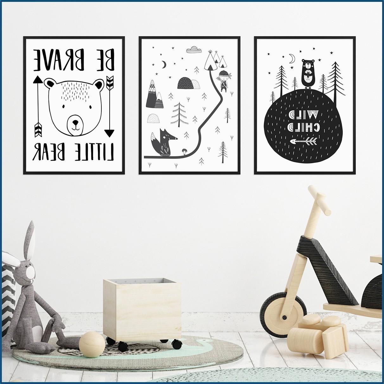 Kinderzimmer Poster 3er Set