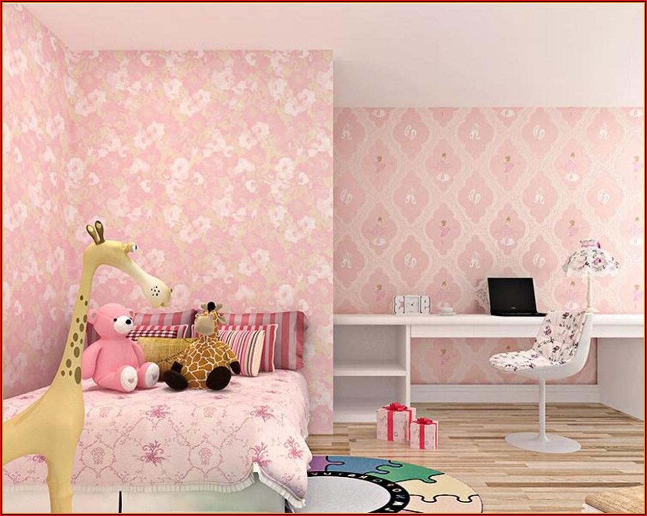 Kinderzimmer Tapete Mädchen Lila