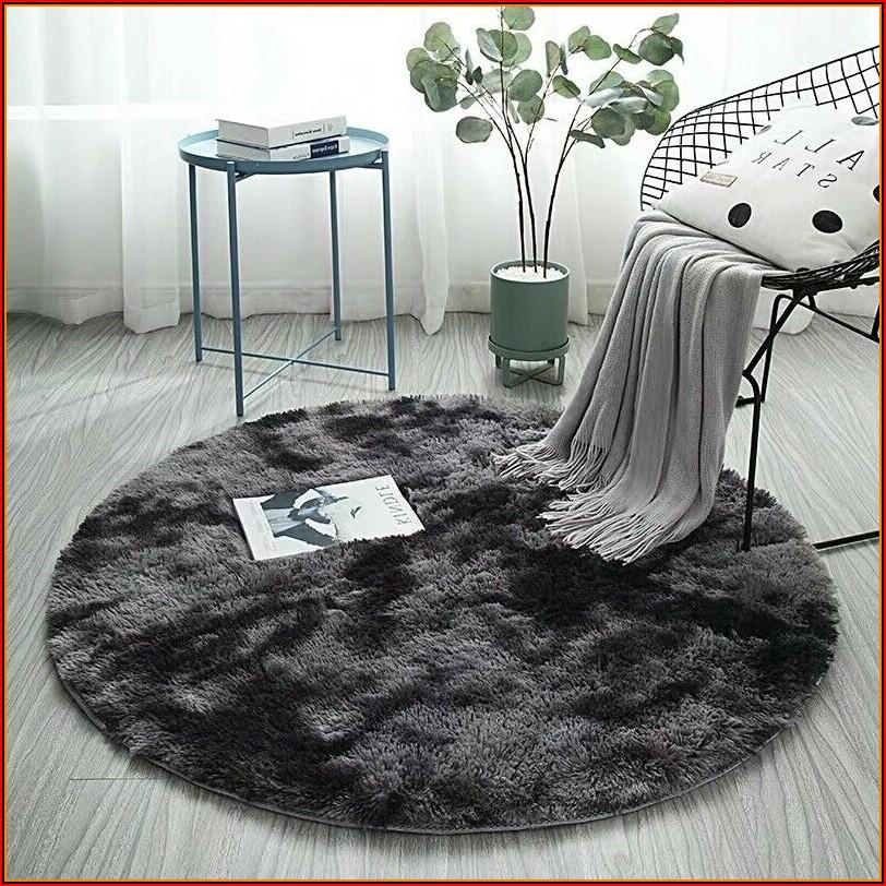 Kinderzimmer Teppich Grau Rund