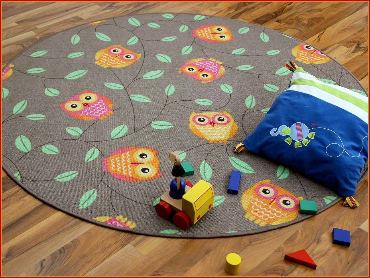 Kinderzimmer Teppich Rund Eule