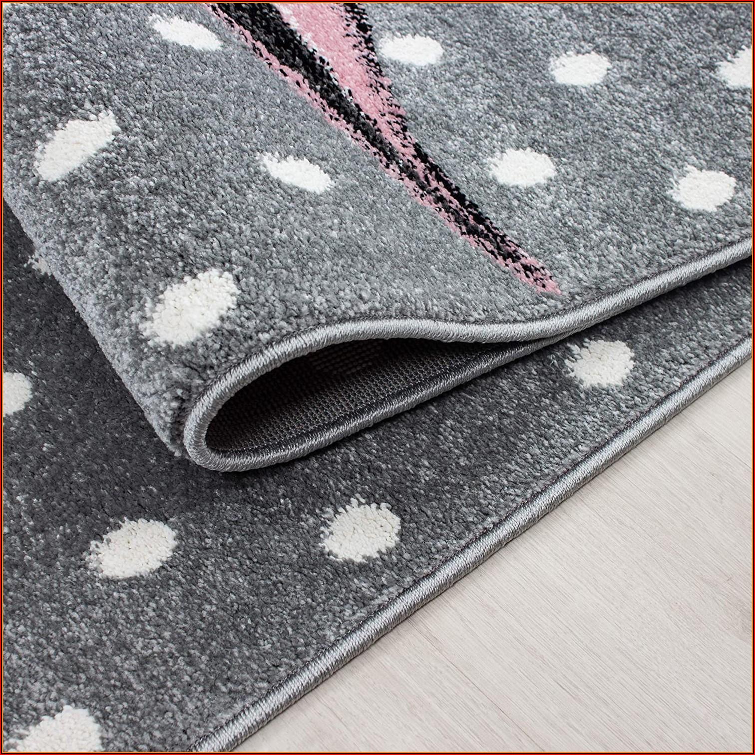 Kinderzimmer Teppich Rund Grau