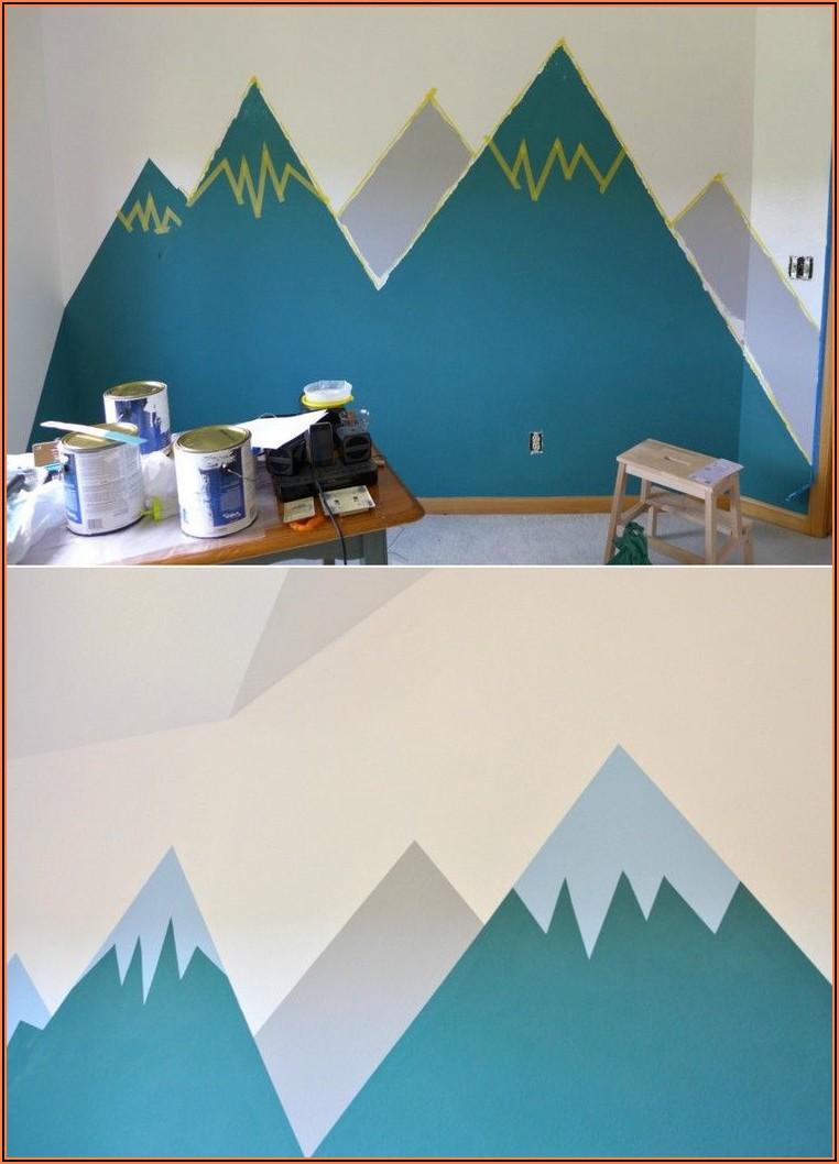 Kinderzimmer Wand Streichen Berge