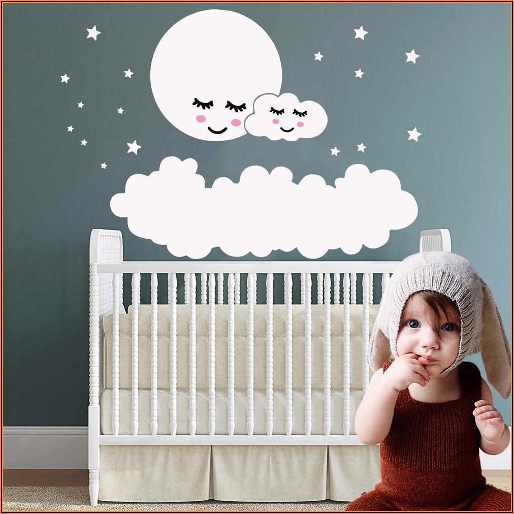 Kinderzimmer Wand Wolken