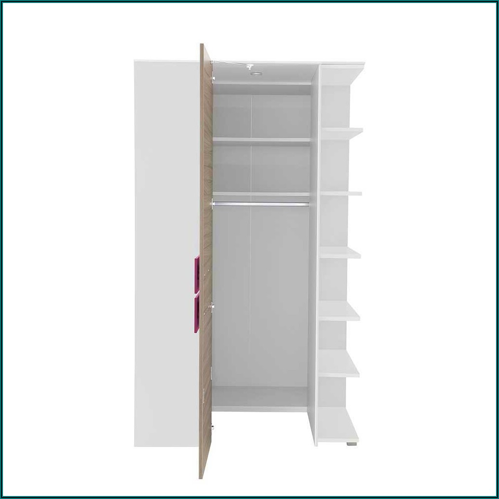 Kleiderschrank Jugendzimmer Holz Weiß