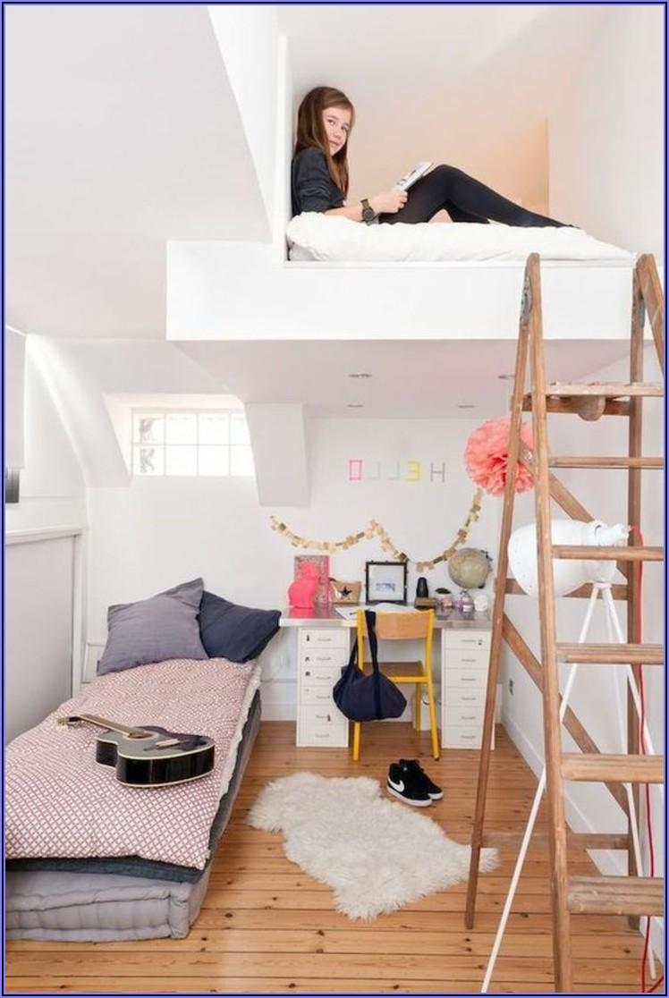 Mädchen Kinderzimmer Mit Himmelbett
