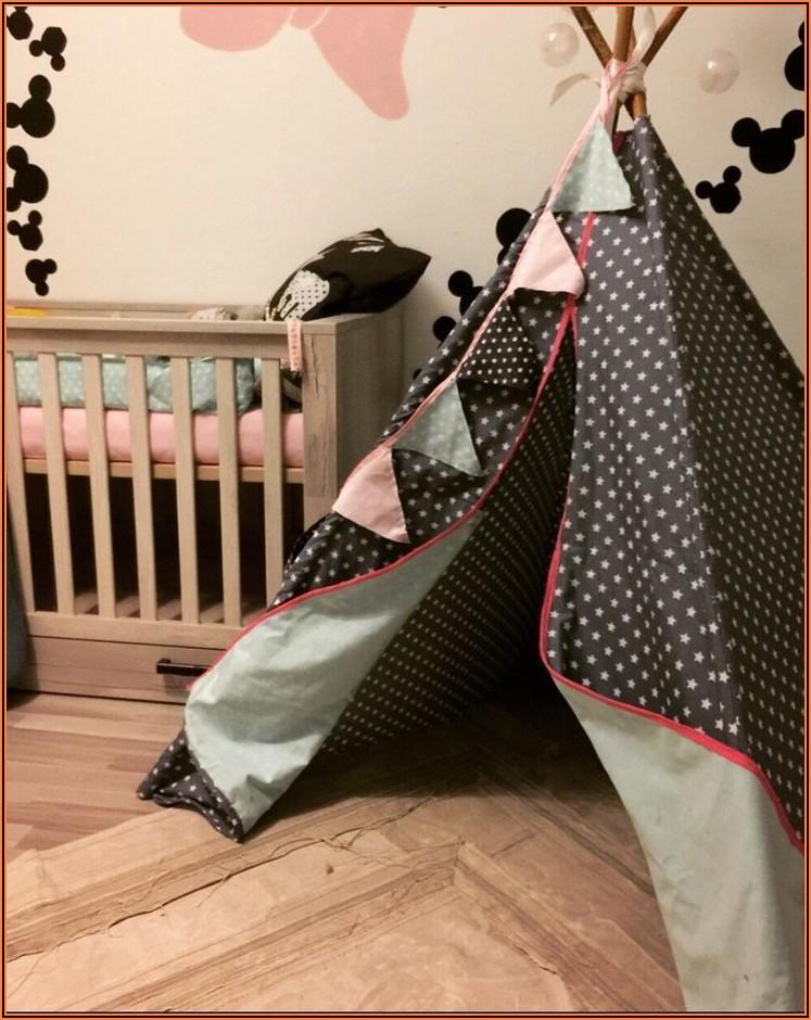 Tipi Zelt Kinderzimmer Grau