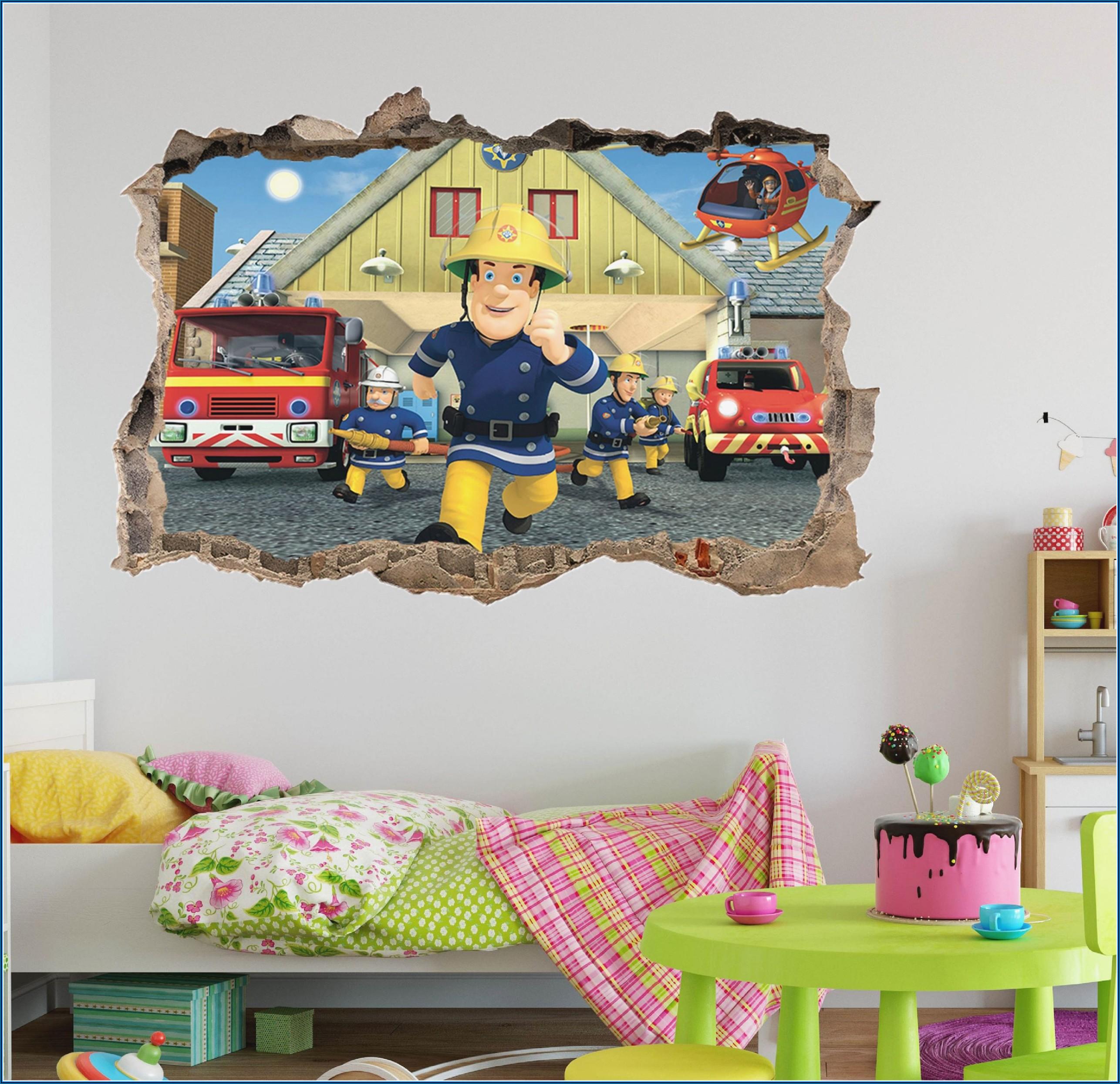 Feuerwehrmann Sam Poster Kinderzimmer