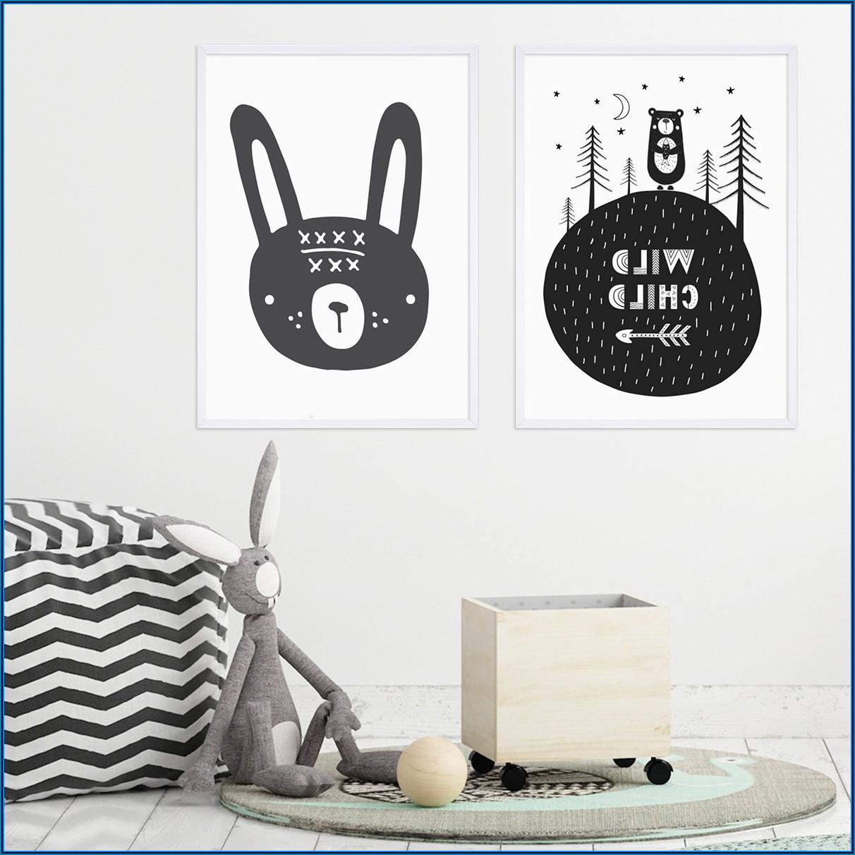 Poster Kinderzimmer Hase