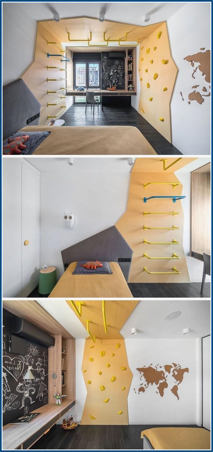 Rutschen Und Klettern Im Kinderzimmer