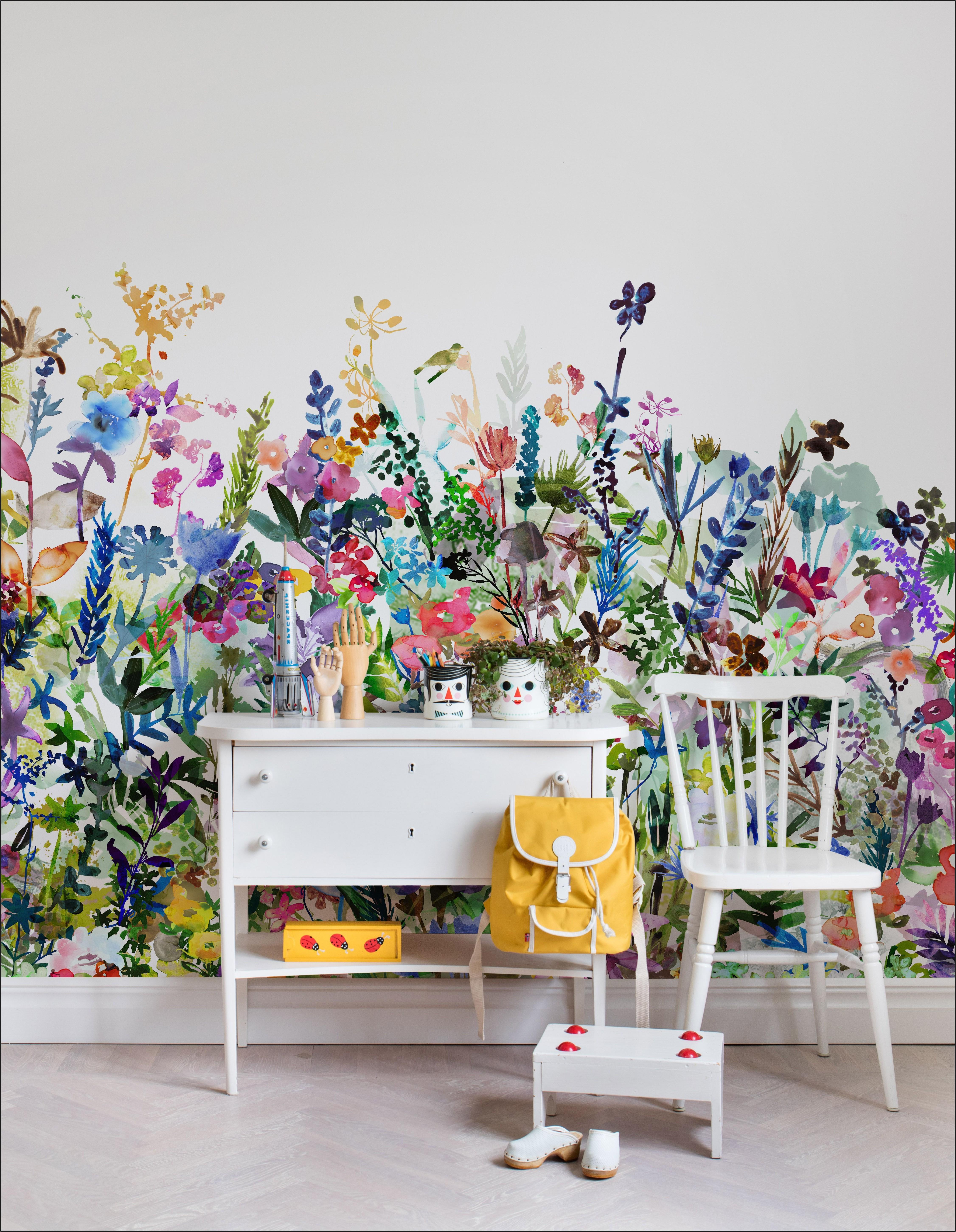 Tapete Kinderzimmer Blumen