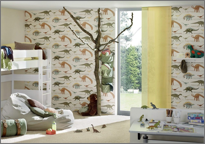 Tapete Kinderzimmer Junge Dinosaurier