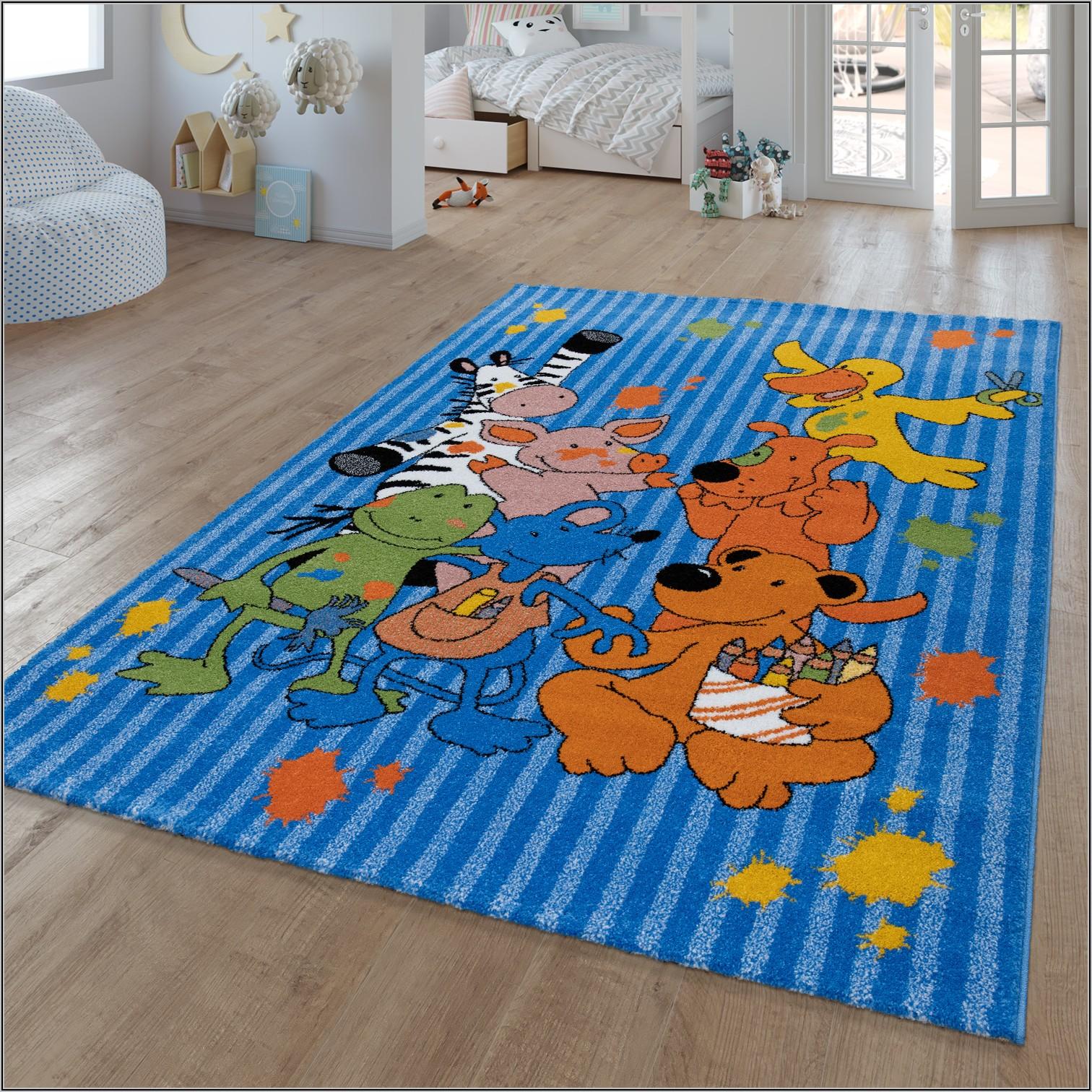 Teppich Für Kinderzimmer Blau