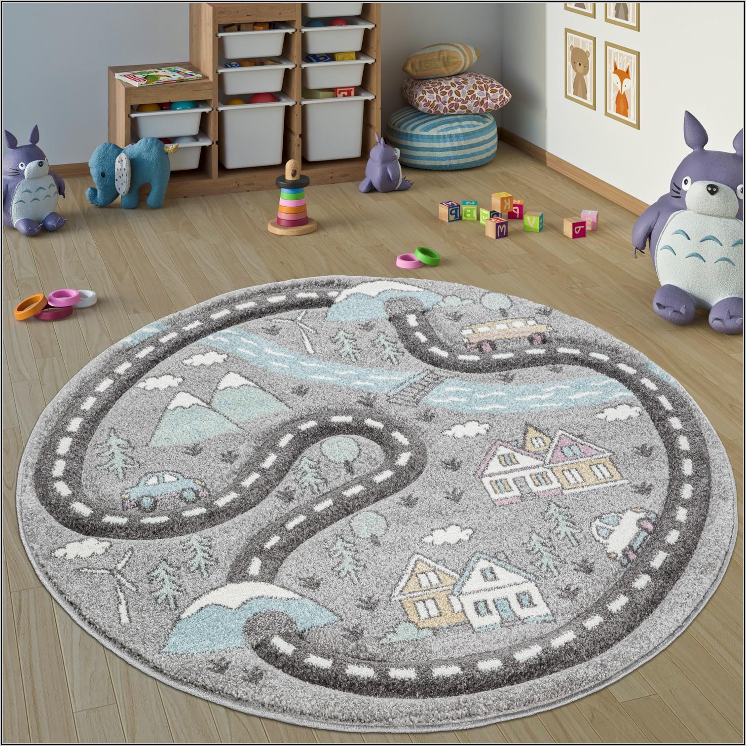 Teppich Grau Rund Kinderzimmer