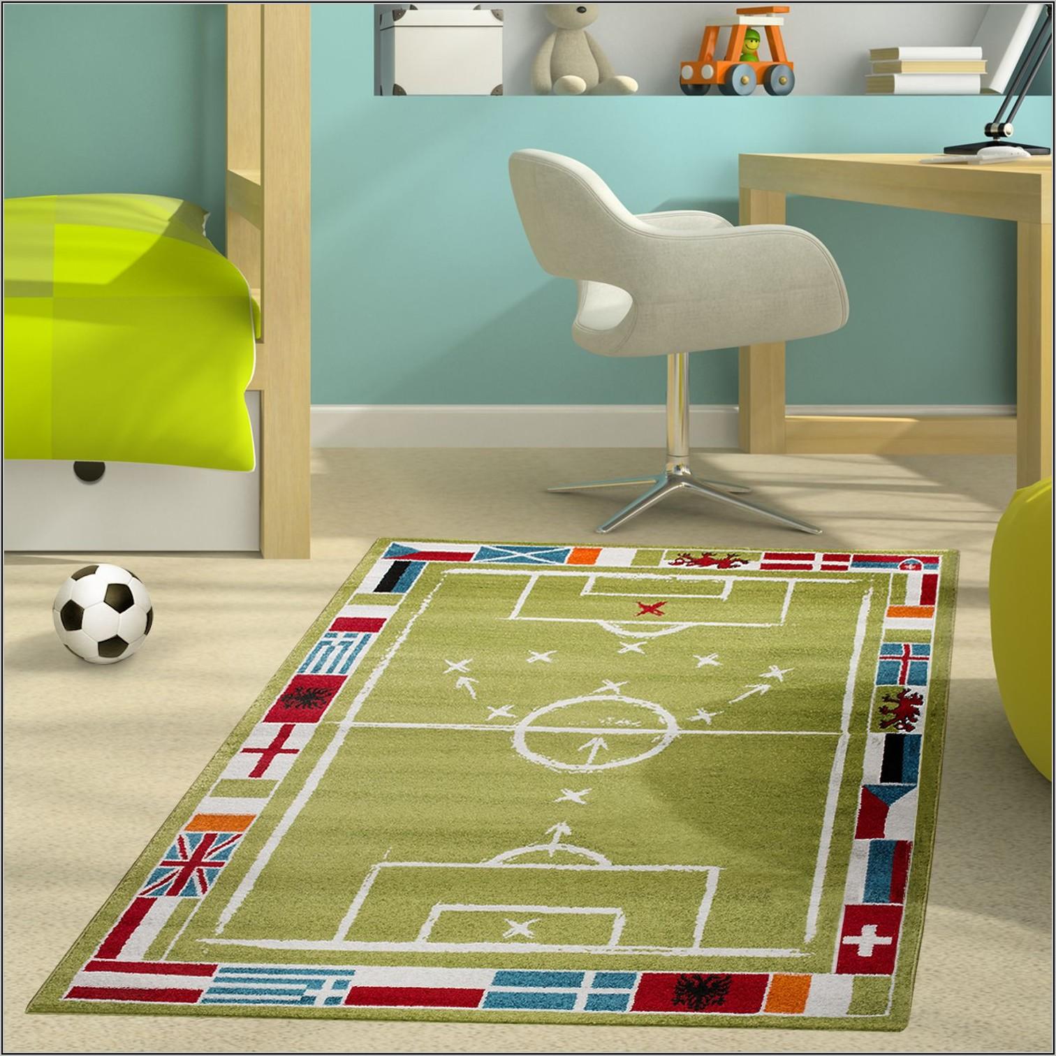 Teppich Kinderzimmer Junge Fussball