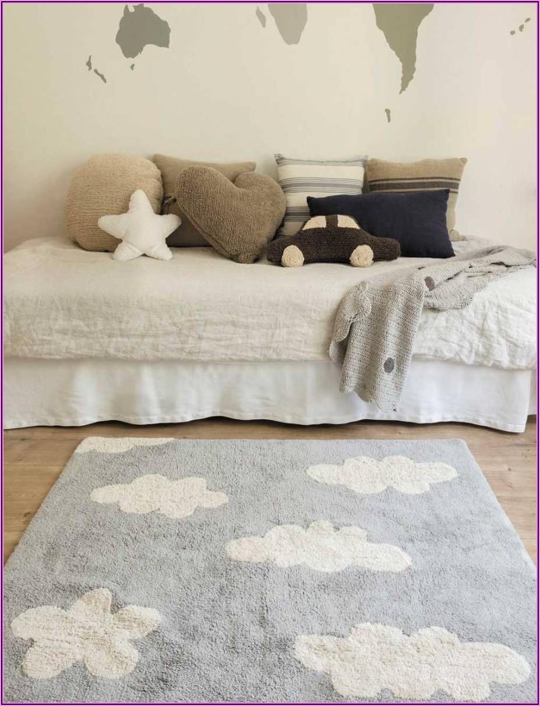 Teppich Kinderzimmer Grau Wolke