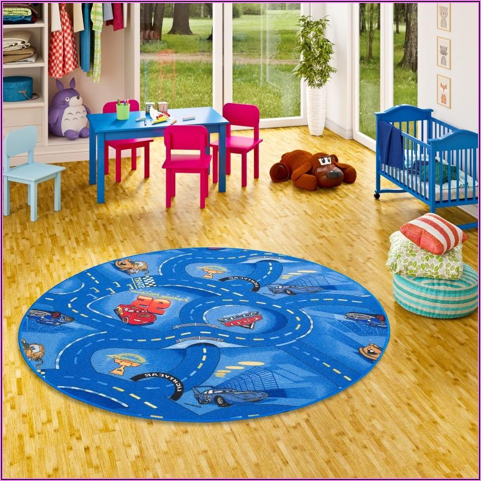 Teppich Rund Kinder Blau