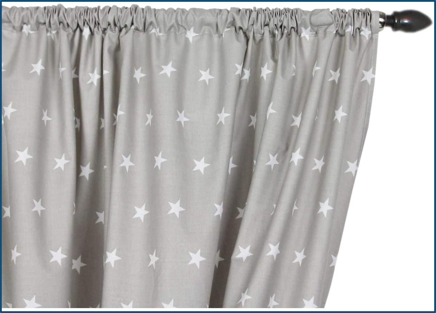 Vorhang Kinderzimmer Sterne Blau