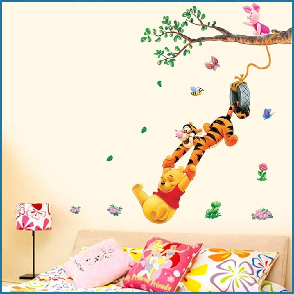 Wandaufkleber Kinderzimmer Winnie Pooh