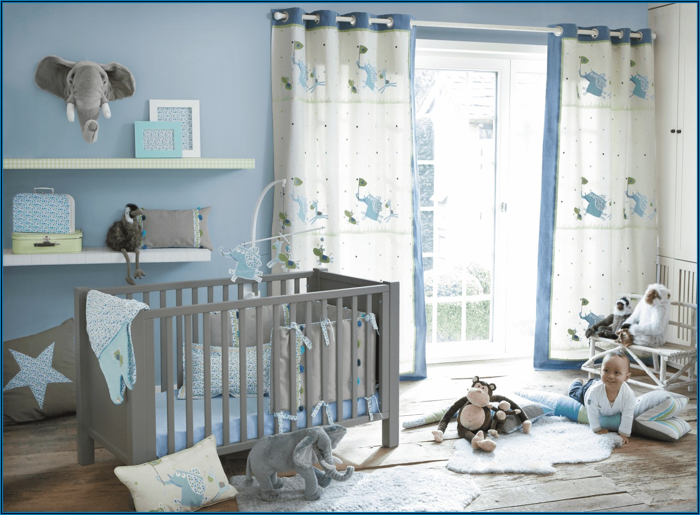 Wandgestaltung Kinderzimmer Baby Junge