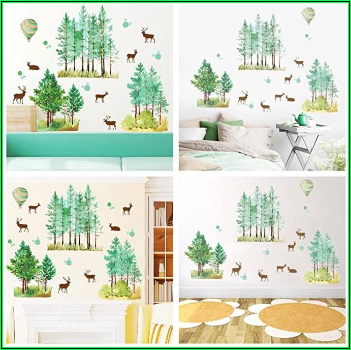 Wandtattoo Kinderzimmer Junge Waldtiere