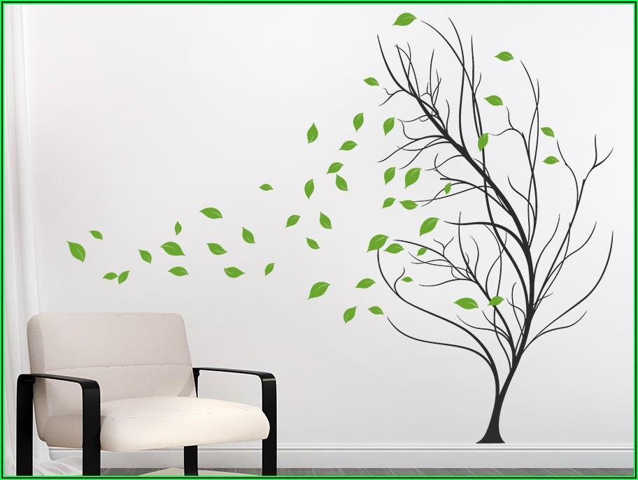 Wandtattoo Kinderzimmer Mädchen Baum