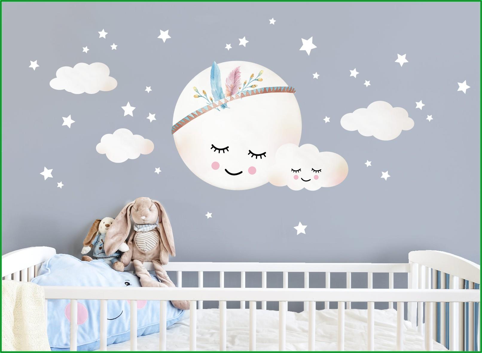 Wandtattoo Kinderzimmer Mond